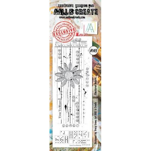 AALL & Create - Stamps - Border, #149 Checkered Nature