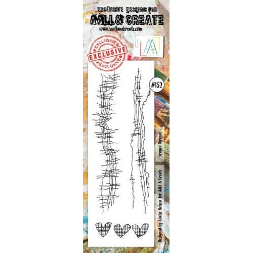 AALL & Create - Stamps - Border, #152 Frayed Threads